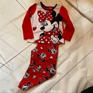 Disney Minnie Girl's 4T Fleece Pajama Set